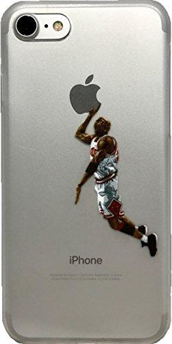 Weiche TPU-Basketball-Hülle mit Ihren Lieblingsspielern aus der Vergangenheit und Gegenwart (Jordan White, iPhone 7 und 8)