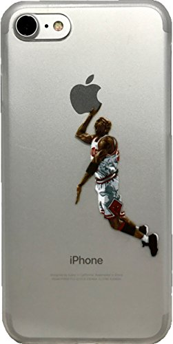 ECHC Schutzhülle für iPhone (weiches TPU, Basketball-Design), iPhone 7 and 8, Jordan Weiß