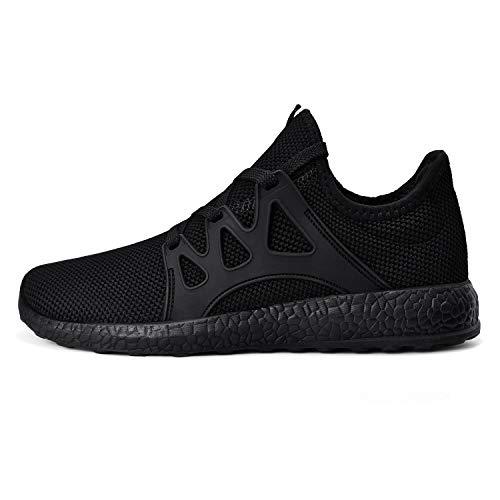 MARSVOVO Women Fashion Sneakers Athletic Tennis Walking Non-Slip Running Shoes Black Size 7.5
