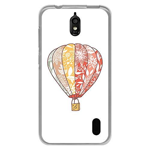 BJJ SHOP Transparent Hülle für [ Huawei Y625 ], Flexible Silikonhülle, Design: Ethnischer Heißluftballon