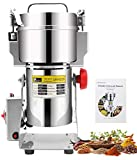 CGOLDENWALL 400g Grain Grinder 1800W Open-Cover-Stop Protection Electric Grain Mill 28000RPM Cereal Spice Herb Grinder Pulverizer with Overload Protection& 0-5min Timer