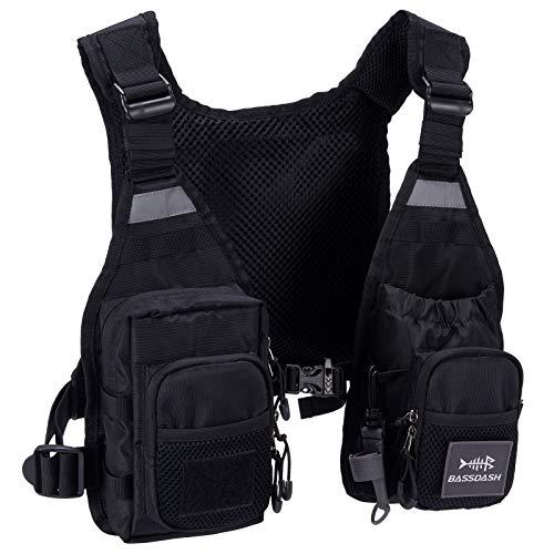 Bassdash FV08 Fliegenfischerweste Anglerweste Ultra Lightweight für Männer und Frauen Tragbare Brustpackung