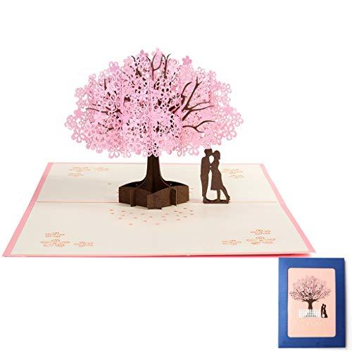 3D Hochzeitskarte Hochzeitsgeschenke für Brautpaar Karte Hochzeit, Grußkarten Hochzeitskarte Pop Up Karte Liebe, Valentinstag Karte Wedding Card Glückwunschkarte Hochzeitstag Geschenke zur Hochzeit