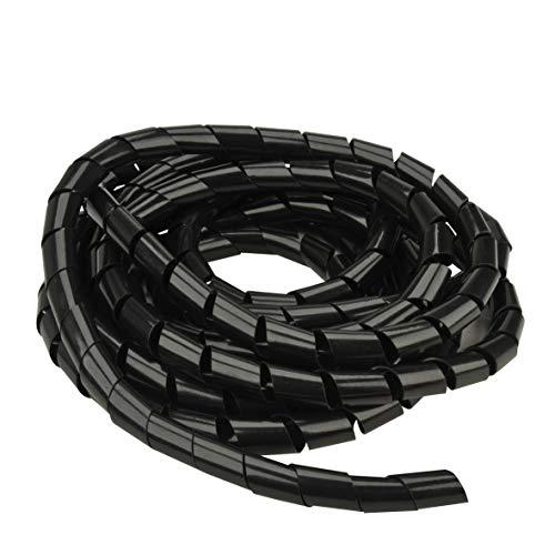 UNITEC Spiralschlauch 15mm 10 m schwarz,