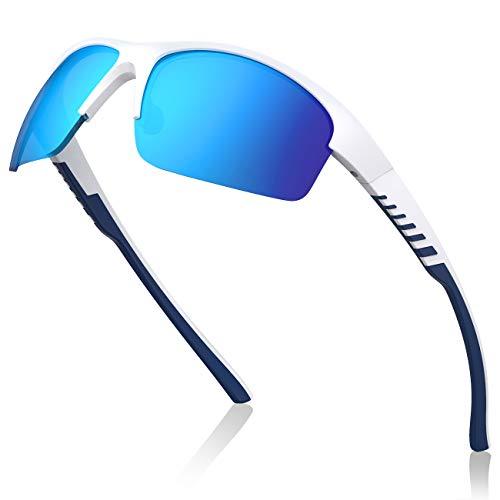 Avoalre Gafas de Sol Polarizadas Deportivas Gafas para Hombre y Mujer TR90 irrompible 100% Anti UVA y UVB, Super Cómodo para Ciclismo Pesca Correr Motocicleta Escalada, Azul