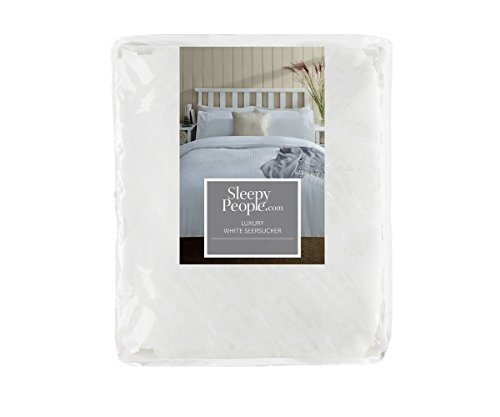 Sleepy People Seersucker Duvet Set, Double