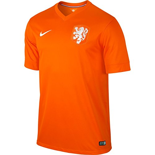 NIKE Netherlands 2014 Stadium Men's Soccer Shirt, Orange, S