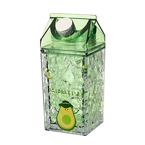 LUBINGT Vaso para Beber al Aire Libre Nueva Capa Doble de Doble Capa frigorífica fría fría Taza Helada Taza Verano Celebridad aplastado Hielo Taza de Agua Leche Botella de Agua cartón de Leche