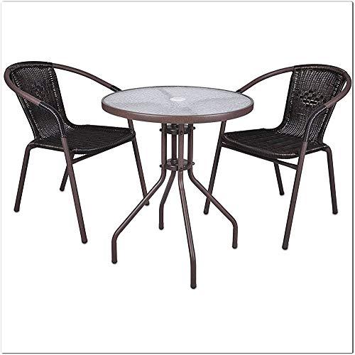 3 sets of bistro sets of rattan garden furniture sets of garden furniture,Brown
