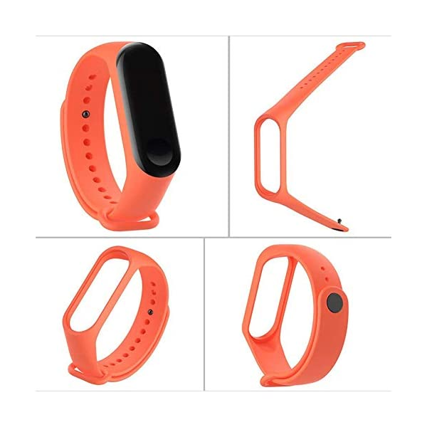 BRone Pulsera para Xiaomi Mi Band 3 / Mi Band 4, Coloridos Impermeable Reemplazo Correas Reloj Silicona Correa para… 2