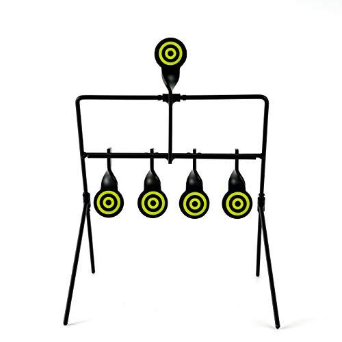 KNINE OUTDOORS 4 Targets Air Gun Pellet BB Gun Rimfire Resetting Target, Rated for .22 .177 Caliber
