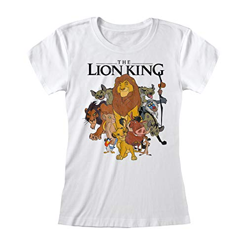 Lion King Vintage Group Pose (Fitted d) - Blanc - XX-Large