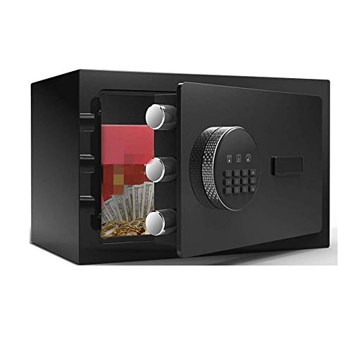 Lsmaa Safe 20cm High Mini Huishoudelijke Kluis Alle Staal Anti-diefstal Kluis (Kleur : Bruin, Maat : 20x20x31cm)