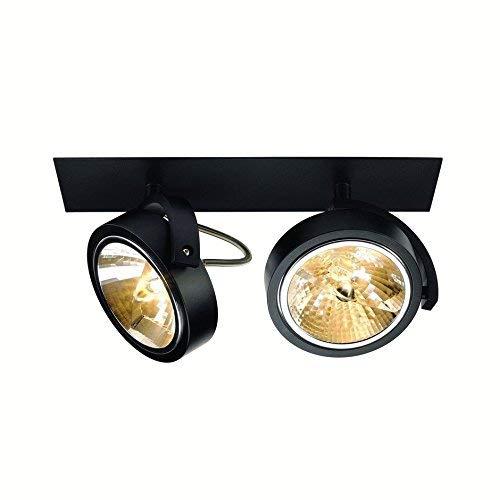 SLV Einbau-Strahler KALU 2, dreh- und schwenkbar   Dimmbare Deckenleuchten, Beleuchtung innen   LED Spots, Fluter, Deckenstrahler, Decken-Lampen, Einbau-Leuchten   2-flammig, GU10 QR111, EEK E-A+