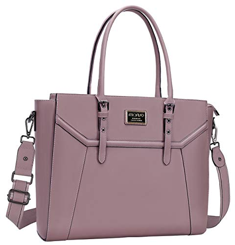 MOSISO 15.6-17 inch Women Laptop Tote Bag with Shockproof Compartment, Purple
