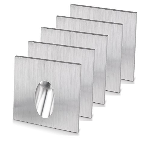 LED Foco Lámpara de pared rectangular LED empotrable Paso Escaleras lámpara Veranda poste 1 W Sótano Bombilla AC 100 – 245 V, blanco cálido, 5 Pack