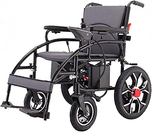 Silla de ruedas eléctrica para la silla de cuatro ruedas de cuatro ruedas la luz eléctrica del coche eléctrico y la pequeña silla de ruedas eléctrica plegable,Negro