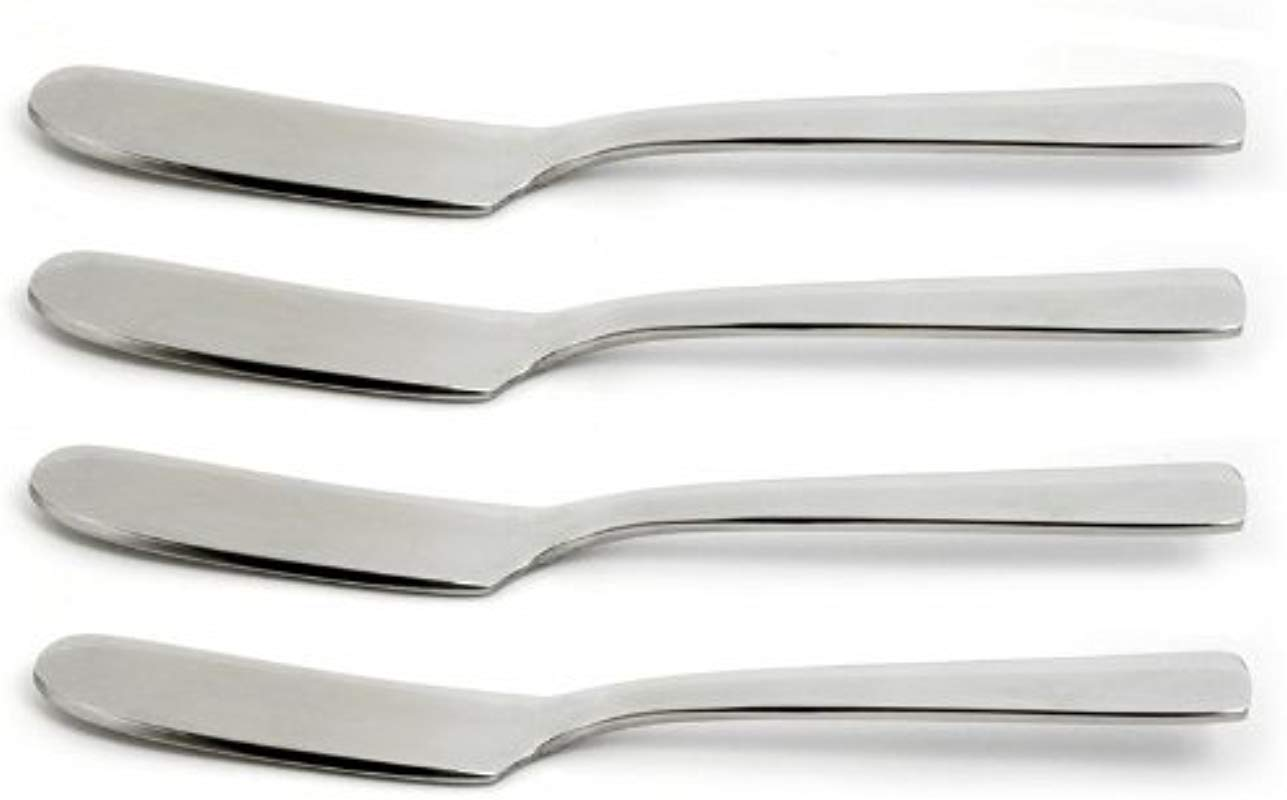 Norpro Set Of 4 Polished Silver Stainless Steel Spreaders Dishwasher Safe 5447