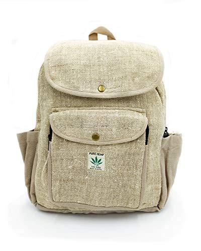 Rucksack aus Hanf, Natürliche Tasche, Handgemacht in Nepal, Yogi