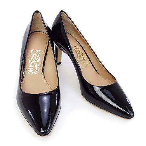 [SALVATORE FERRAGAMO] [サルヴァトーレ フェラガモ] 靴 レディース パンプス エナメルブラック (FLORA 70 0643455 NERO) 8.5Cサイズ(25.5cm) エナメルブラック [並行輸入品]