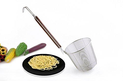 Tenta Kitchen Edelstahl-Siebkorb, aus Drahtgeflecht, holz, Wire Strainer, L