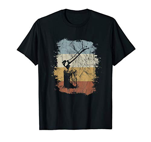 80s Retro Wood Chopping Vintage Axe Lumberjack T-Shirt
