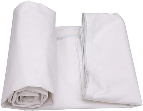 Couverture de remorque imperméable réversible Blanche imperméable résistante de Grande bache de bache dans différentes Tailles, 500G   M2 (Taille   4x3m)