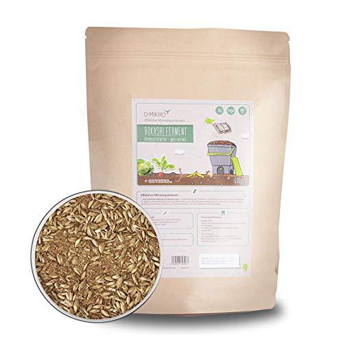 DIMIKRO Bokashi Ferment getrocknet - Kompoststarter und Fermentationshilfe für Bokashi Eimer - Mit Effektiven Mikroorganismen (0,6 Kg)