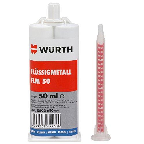 WÜRTH 2K-Flüssigmetallspachtel FLM 50 - 2-Komponenten Kleber