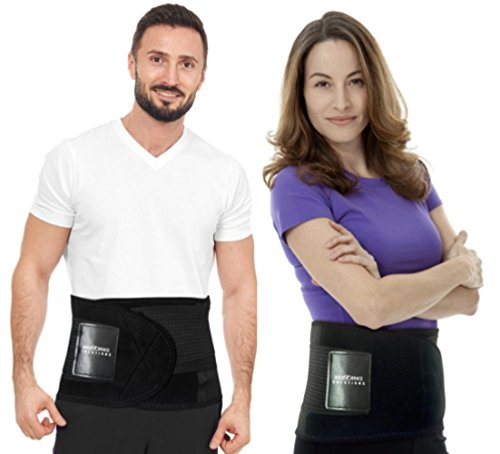 "Best Back Brace Guaranteed - Back Brace Solutions Neoprene Lower Back Lumbar Support Belt Adjustable Compression Fit Back Wrap Men Women Best Braces Lower Back Pain (S-M Waist Size 27"" - 34"")"