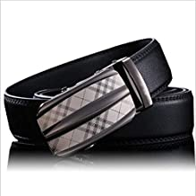 Libra_J Men's Dress Belt Automatic Buckle Leather Ratchet Belt for for Dads, Husbands, Boyfriends, Brothers Gift with Box