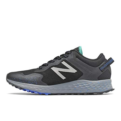 New Balance Women's Fresh Foam Arishi Trail V1 Running Shoe, Black/Black, 6