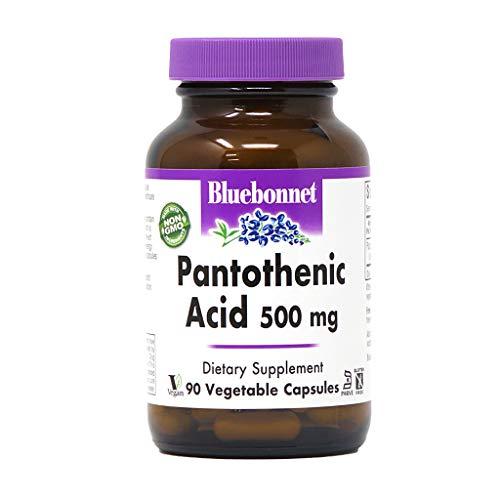 BlueBonnet Pantothenic Acid 500 mg Vegetable Capsules, 90 Count