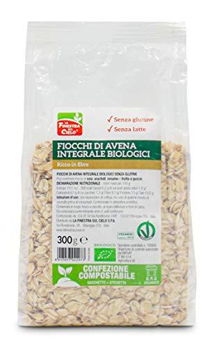 LA FINESTRA SUL CIELO Fiocchi di Avena Integrali Bio senza Glutine - 300 g
