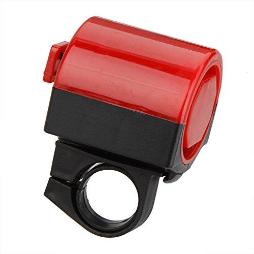 TOOGOO(R)Accesorio de bicicleta Campana Electronico de bicicleta MTB Carretera Bicicleta corneta ruidosa claxon de Ciclismo sirena de rotacion de 360 grados Rojo