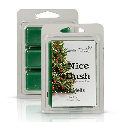 The Candle Daddy Nice Bush - Pine Blue Spruce Scent - Maximum Scented Wax Melt Cubes - 2 Ounce - Dirty Santa Claus Christmas
