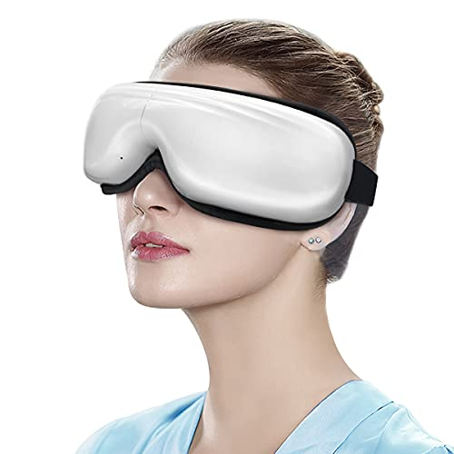 Belovedone Eye Massager with Heat Temple Massager Air Compression Vibrating for Dark Circle Tired Eye Dryness Migraines Soothe