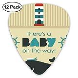 Guitar Picks Baby On the Way Mensaje con tema marino Set Dolphin Wheel, para bajo Guitarras eléctricas acústicas-12 Pack