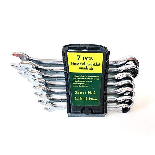 NIUPAN Llave de combinación de Caja de trinquete Utilizada para reparación de automóviles Llave de Anillo Llave de Herramienta Manual