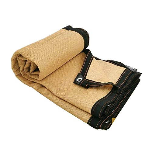 Sunblock Shade Cloth 75% Shade Cloth for Pergola, Shade Net with Grommets for Porch Canopy or Gazebo Plant Cover Tarpaulins Shelter (Color: Beige, Tamaño: 4x6M / 13x19FT)