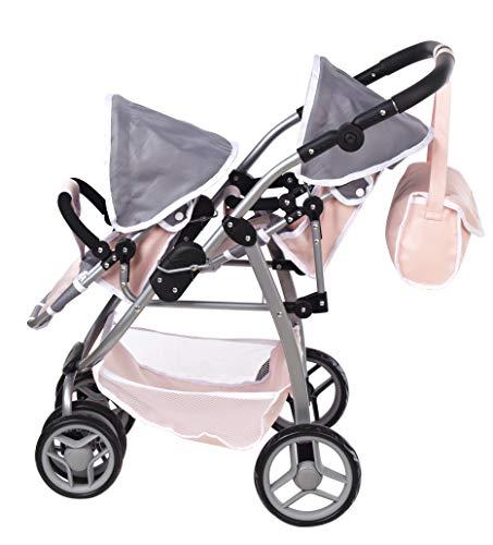 Deluxe Twin Doll Stroller/Pram