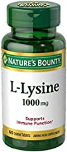 Nature's Bounty L-Lysine 1000 mg Tablets, 60 Count