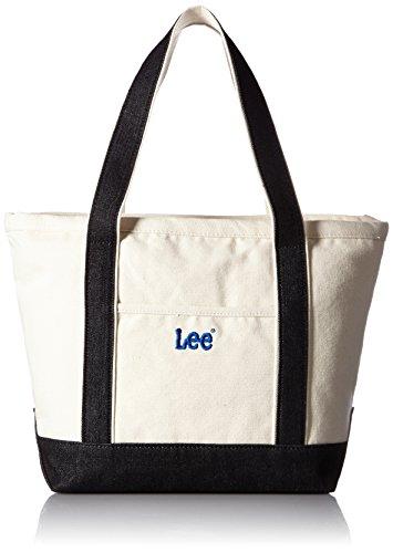 [リー] トートバッグ 厚手キャンバス(帆布) ファスナー ブラック