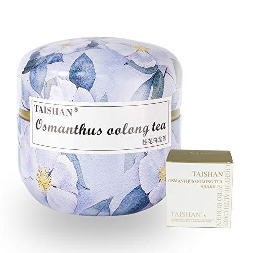 TAISHAN Organic Oolong   Green   Red Tea Triangle Bags, Fruit and Flower Tea,15 Count (Osmanthus oolong tea)