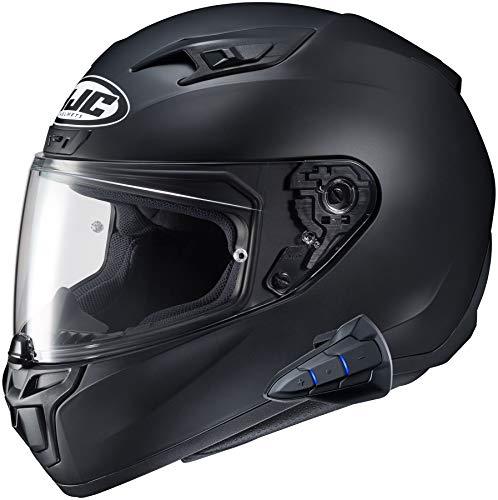 HJC i10 Full Face Helmet Snell 2020 with Sena Smart 10B Bluetooth Headset SF Black Medium