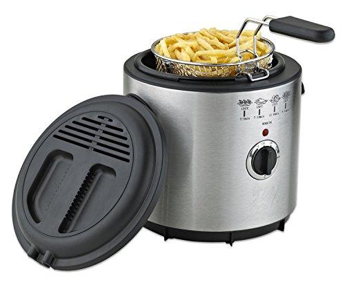 Con inserto in acciaio inox friggitrice serbatoio olio Mini Fritöse fryer 1,5 litro 1,000 Watt
