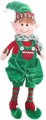 Lelesta Peluche Elfi di Natale Peluche Elfo di Natale Piccolo aiutante di Babbo Natale Peluche per Ornamenti per la casa Decorazioni per la tavola di Compleanno per Bambini (Ragazzo)