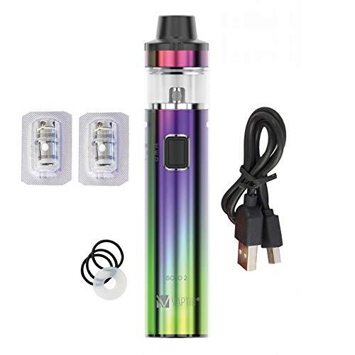 Vaptio Solo 2 KIT 50W 3000mAh Cigarrillo electrónico Vape Pen Starter Kit, E-Cig Top-Reill 2ml / 4ml Tank Vaping, No E Liquid No Nicotine (Rainbow)