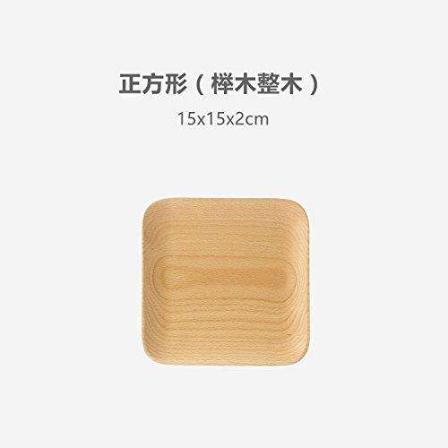 Bezigeorey Bois De Noyer Noir Japonais Carrés Collations Les Collations De Fruits Snack-Lave Lave Vaisselle en Hêtre,Square (15X15) en Bois De Hêtre