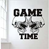 Chellonm Sticker Mural Vinyle Autocollant Gym Sport Rugby Football Américain Jeu Temps Décor Kids Room Stickers Muraux 62 * 57 Cm